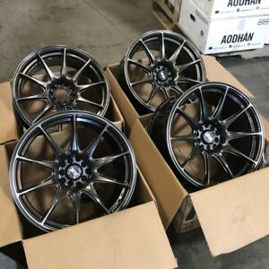 Used 18x8 75 18x9 75 Xxr 527 5x100 114 3 20 Chromium Black Wheels Fits 350z G35