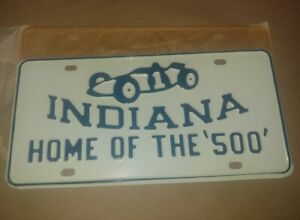 Original 50s 60s Nos Indy Indiana 500 Vintage License Plate Tag Indianapolis