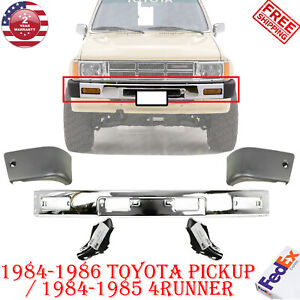 Front Bumper Chrome End Bracket For 84 86 Toyota Pickup 4wd 84 85 4runner