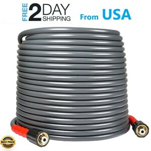 Yamatic 3200 Psi 50 Ft High Pressure Washer Hose 1 4 M22 14mm Flexible