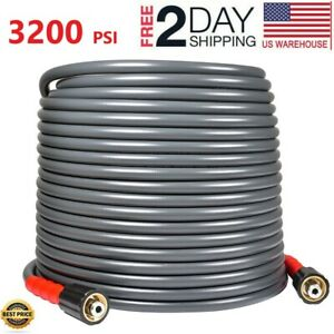 Yamatic 50 Ft 3200 Psi Pressure Washer Hose 1 4 M22 14mm Flexible