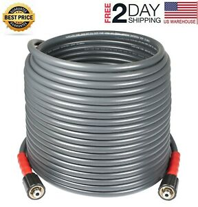 Yamatic 50 Ft 3200 Psi Pressure Washer Hose 1 4 X M22 Flexible