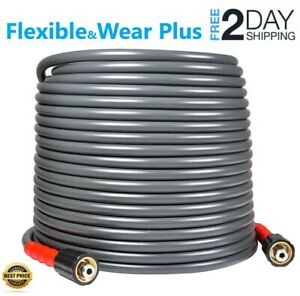 Yamatic 3200 Psi 50 Ft Pressure Washer Hose Flexible 1 4 X M22 14mm