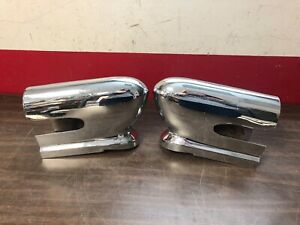 1955 Desoto Lh Rh Outer Grille Stands Teeth Bumper Guards Nice 619