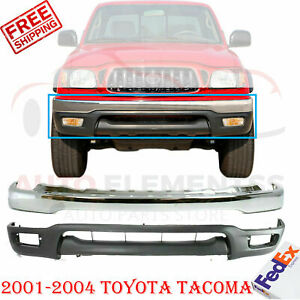 Front Bumper Chrome Steel Lower Valance Primed For 2001 2004 Toyota Tacoma
