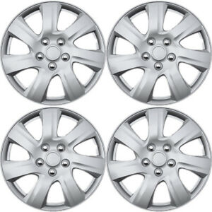 4pc Hubcaps Fits 04 10 Toyota Camry 15 Inch Silver Replacement Rim Wheel Skin