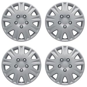 Set Of 4 15 Inch Snap On Silver Hub Caps For 2006 2011 Honda Civic