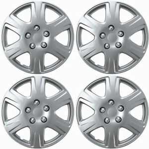 4 Pc Hubcaps Fits 05 08 Toyota Corolla 15 Silver Replacement Wheel Rim Cover