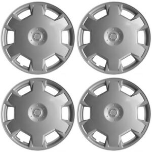 4 Pc Hubcaps Fits 09 15 Nissan Cube 15 Silver Replacement Wheel Rim Skin Cover