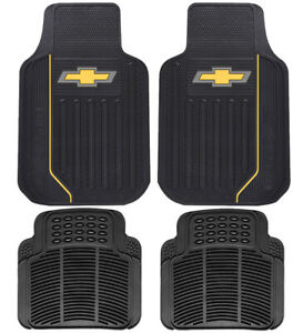 New 4pc Chevy Car Truck Heavy Duty All Weather Rubber Floor Mats Set