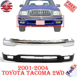 Front Bumper Face Bar Chrome Lower Valance For 2001 2004 Toyota Tacoma 2wd 2pcs