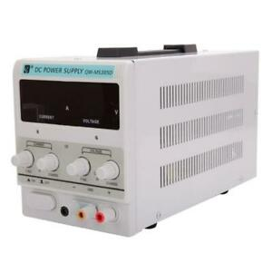 5a 30v Adjustable Dc Power Supply Precision Variable Dual Digital Lab Test 110v