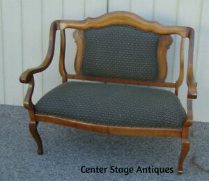 59323 Antique Empire Loveseat Sofa Couch Chair