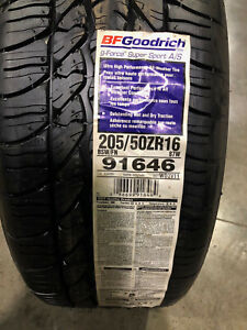 4 New 205 50 16 Bfgoodrich G Force Super Sport A S Tires