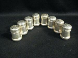 Sterling Silver Individual Salt Shakers Eight In Excellent Condition