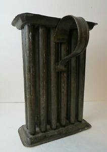 Antique 19th C New England Colonial Tin 12 Tube Candle Mold All Original Surface