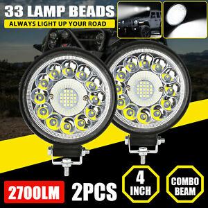 2x 5inch 130w Led Work Light Bar Spot Pods Combo Fog Lamp Offroad Driving Truck
