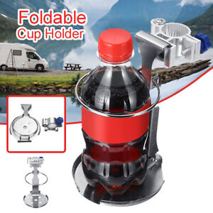 Adjustable Stainless Steel Folding Cup Drink Holder Bottle Stand For Boat Truck