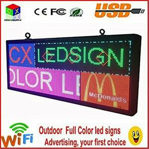 Monitors Outdoor P6 Full Color Led Sign 40 x18 Support Scrolling Text Screen