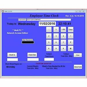 Time Clocks Small Business Network Employee Software Multiple Pc Access On Up
