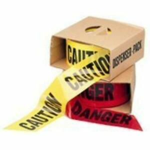 Labeling Tapes Yellow Caution Barricade 3 X 1000