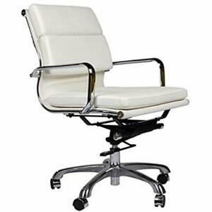 Home Office Desk Chairs Eames Style Executive Leather Chair White Kitchen