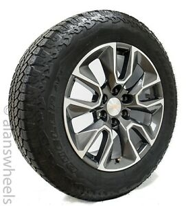 New Chevy Silverado 20 Machined Charcoal Factory Oem Wheels Rims Tires Tahoe