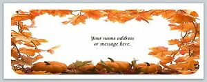 Personalized Address Labels Fall Leaves Border Buy 3 Get 1 Free bo 509