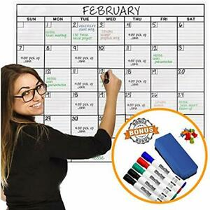 Wall Calendars Jumbo Dry Erase Laminated Calendar Huge 36 inch By 48 inch Size