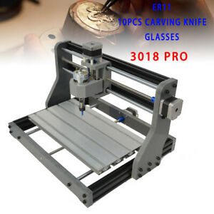 Diy 3 Axis 3018 Cnc Router Engraver Wood Carving Pcb Milling 500mw Laser Head Us
