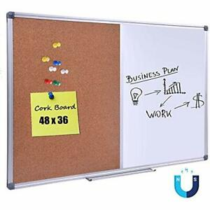 Office School Supplies 48 X 36 Inch Magnetic Dry Erase cork Combo Board