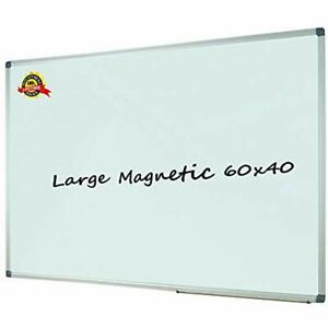 Dry Erase Boards Lockways Magnetic White 60 X 40 Inch Whiteboard Sliver Frame