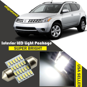15 X Ultra White Led Lights Interior Package For 2003 2007 Nissan Murano Tool