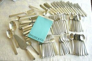 105 Piece Tiffany Hampton Sterling Silver Flatware Set Service For 14 No Monos