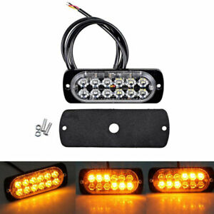 Car Amber Yellow Warning Light Led Emergency Flash Strobe Rotating Beacon Lights