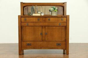 Arts Crafts Mission Oak Antique Craftsman Sideboard Server Chittenden 30965