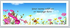 Personalized Address Labels Spring Flowers Buy 3 Get 1 Free bo 568