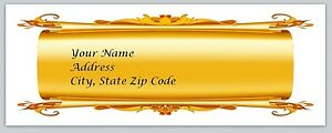 Personalized Address Labels Gold Scroll Background Buy 3 Get 1 Free bo 84