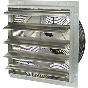 Strongway Enclosed Direct Drive Shutter Exhaust Fan 20in 2speed 2930 2465cfm
