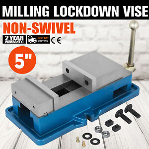 5 Non swivel Milling Lock Vise Bench Clamp Assembly Fix Workpieces 125mm Open