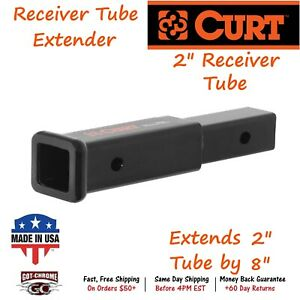 45791 Curt Receiver Tube Extender Extends 2 X 2 Receiver Tube By 8
