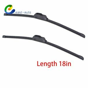 All Season 18 18 Jhook Bracketless Windshield Wiper Blades 2 Pieces