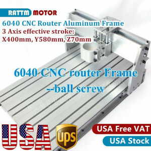 usa 3 Axis 6040 Cnc Router Engraving Mill Drilling 1605 Ballscrw Frame Machine