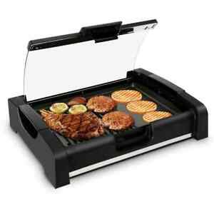 Nutrichef Pkgril45 Electric Griddle Crepe Maker Hot Plate Cooktop With Gla