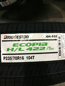 1 New 235 70 16 Bridgestone Ecopia H L 422 Plus Tire