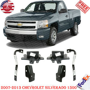 Front Bumper Bracket Kit Extension Out Support For 2007 13 Chevy Silverado 1500