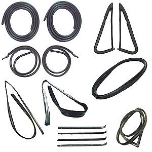 Chevy Gmc Truck With Black Trim Complete Weatherstrip Kit 1981 1985