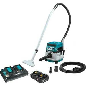 Makita Xcv08pt 36 Volt 2 1 Gallon X2 Lxt Brushless Dry Dust Extractor vacuum Kit