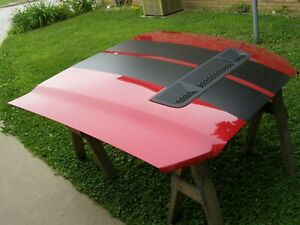Oem Ford 2013 2014 Mustang Shelby Gt500 Hood New Take off W Quilt Red Bsp Nos
