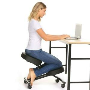 Ergonomic Kneeling Chair Rolling Padded Seat Adjustable Height Knee Rest Black 7